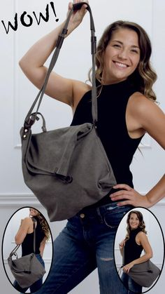 Canvas Crossbody Bag, Tote Bag, Shoulder Handbags, Shoulder Bag, Minimalist Wardrobe, Types Of Bag, Denim Bag, Fashion Sewing, Christmas Shopping