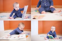 baby photographers denver, baby reading books, 9 month old portrait session denver, lifestyle baby photographers