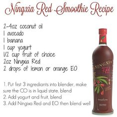 NingXia Red Smoothie Recipe