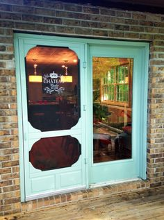 a screen door at the cottage entryway pinterest. Black Bedroom Furniture Sets. Home Design Ideas