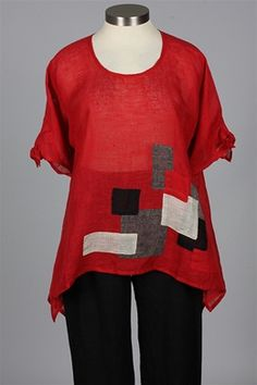 NP - Squares Tunic - Red