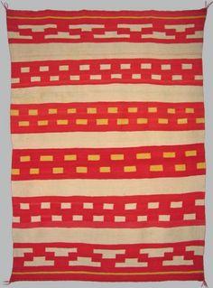Navajo handspun wool. c, 1890