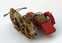 German Zundapp K800+STEIB. VULCAN 1/35 scale. By Anioł. #Zündapp #scale_model #motorcycle #sidecar