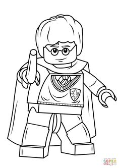 Lego Harry Potter With Wand Coloring Pages Printable And Book To Print For Free Find More Online Kids Adults Of