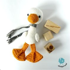 Amigurumi goose. (For sale from outside the Uk). Gorgeous!