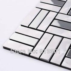 metallic mosaic tiles silver grey patterns wholesale bathroom wall tile deco mesh kitchen backsplash swimming pool tile design US $240.46