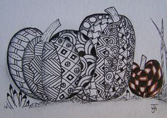 zentangle pumpkin 4th or 5th