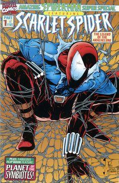 Scarlet Spider - Homage to Spider-Man by Todd McFarlane Marvel Dc Comics, Marvel E Dc, Marvel Comic Books, Marvel Heroes, Comic Books Art, Comic Art, Marvel Universe, Book Art, Captain Marvel