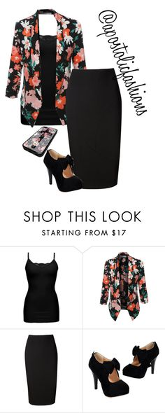 """Apostolic Fashions #1413"" by apostolicfashions ❤ liked on Polyvore featuring BKE, LE3NO, Victoria Beckham, modestlykay and modestlywhit"