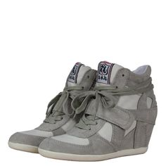 Ash 84944 Bowie Womens Wedge Hi Top Trainers SS13 Clay/Clay from www.hypedirect.com Bowie, Clay Clay, Sports Footwear, Wedge, Trainers, Sneakers, Shoes, Women, Fashion