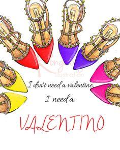 He encontrado este interesante anuncio de Etsy en https://www.etsy.com/es/listing/225052520/i-need-a-valentino-shoes-art