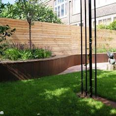 Modern garden by house of green modern Small Backyard Gardens, Back Gardens, Small Gardens, Outdoor Gardens, Modern Garden Design, Contemporary Garden, Landscape Design, Easy Garden, Home And Garden