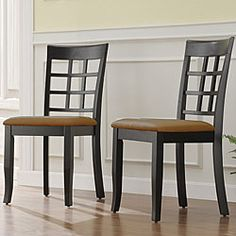 @Overstock - This classic yet modern dining chair showcases an elegant high lattice chair back design. This chair set features comfortable microfiber seats to provide the ultimate in comfort.http://www.overstock.com/Home-Garden/Willingminton-Black-Lattice-Dining-Chairs-Set-of-2/5110214/product.html?CID=214117 $119.99
