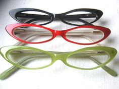 slim cat eye glasses frames. I have Purple, red, black, cream, yellow, and brown.