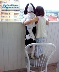 Springers don't want to miss a thing. Love how she has her arm around the dog. Great friends.
