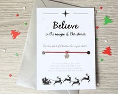 Believe in the Magic of Christmas Wish Bracelet - Stocking / Christmas Eve Box Fillers - BUY 4 GET 1 FREE
