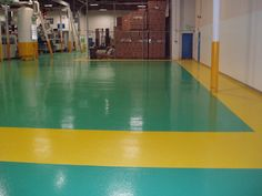 Add some color to your warehouse with the floors