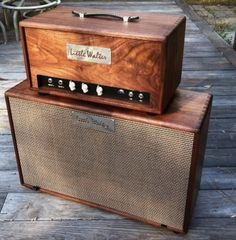Walnut amplifier and speaker for everyone from Guitar players to Pedal Steel Guitar players. Also featured in Vintage Guitar Magazine in the Gear Review.