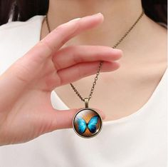 """Trendy Casual Bronze Butterfly Art Picture Bracelet NecklaceGlass Cabochon StatementJewelry Set. Material: Glass Jewelry Sets Type: Necklace/Bracelet Metals Type: Alloy Click The """"ADD TO CART"""" To Get Yours"""