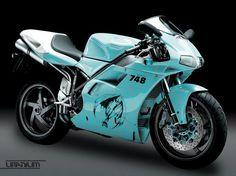 Ducati 748 blue demon