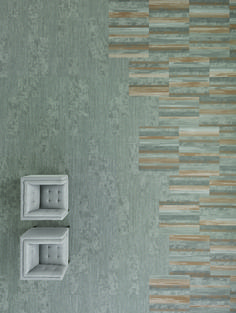 Vertical Layers collection by Shaw Contract.. Undertone Tile in color past Relief Tile in color burnished pewter Tinge Tile in color burnished pewter