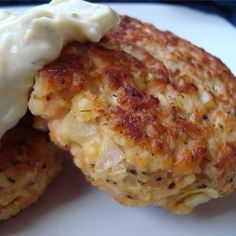 "Potato Salmon Patties I ""I tried this tonight and it was delicious and very easy to make. I served it with a little lemon-flavored white sauce on top."""