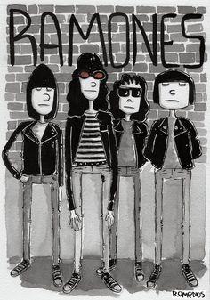 The Ramones Arturo Vega Illustration Design Portrait Art (1)