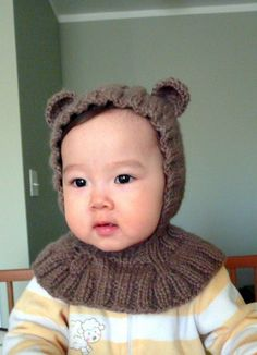 Bear Coverall Hat 918 months by NYrika on Etsy