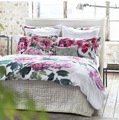 Designers Guild Shanghai Garden Peony Sham Ships Free #romanticbedding #floralbedding
