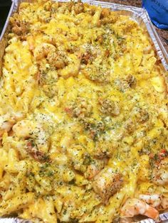 Seafood Mac + Cheese! #shrimp #lobster #crab