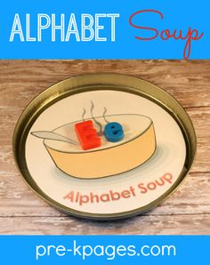 Free Printable Alphabet Soup Activity #preschool #kindergarten