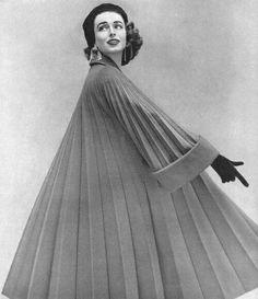 Vogue, November , 1952 Henry Clarke, Dorian Leigh wearing Jacques Heim dress, 1955