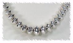 Sterling Silver Navajo Seed Bead Navajo Jewelry, Native American Beading, Seed Beads, Nativity, Pearls, Sterling Silver, Diamond, Native American Beadwork, The Nativity