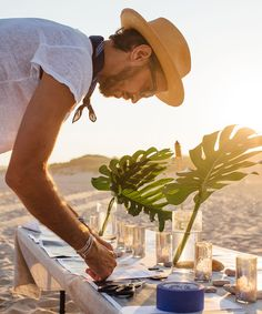 Montauk Beach Party Decor | Interior designer and event planner Sam Masters throws a beach party for close friends in Montauk. #refinery29 http://www.refinery29.com/beach-party-decor