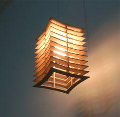 lámpara colgante de madera mdf estilo y diseño modelo 2214