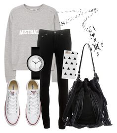 """""""School 😔"""" by destiny2324 ❤ liked on Polyvore featuring beauty, MANGO, rag & bone, Converse and Loeffler Randall"""