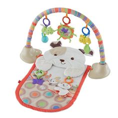 The Fisher-Price My Little Snugapuppy Gym is a cozy, lay-and-play activity mat. This baby mat that will engage your little one's senses.