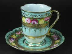 Old Noritake Cup and Saucer China Cups And Saucers, China Tea Cups, Teapots And Cups, Teacups, Antique Tea Cups, Vintage Cups, Vintage Tea, Vintage China, Cup And Saucer Set