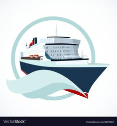 Cruise ship vector image on VectorStock Free Vector Images, Vector Free, Boat Cartoon, Ship Vector, Titanic Ship, Boat Names, Summer Backgrounds, Travel Icon, Disney Cruise Line