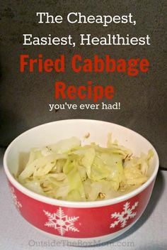 Looking for an easy, healthy, and inexpensive side dish? This Fried Cabbage Recipe is the cheapest, easiest, and healthiest way to get your family to eat more veggies. Three easy ingredients and comes (Cabbage Recipes Roasted) Crispy Oven Fries, Crispy Oven Fried Chicken, Fries In The Oven, Slow Cooker Recipes, Cooking Recipes, Healthy Recipes, Crockpot Meals, Fried Cabbage Recipes, Tomato Cream Sauces