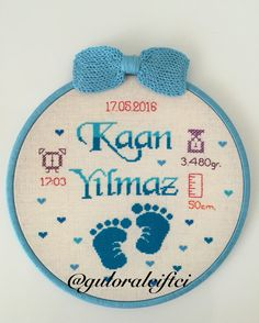 Baby Cross Stitch Patterns, Cross Stitch For Kids, Mini Cross Stitch, Cross Stitch Rose, Hand Embroidery Videos, Baby Embroidery, Hand Embroidery Patterns, Cross Stitch Embroidery, Paisley Stencil