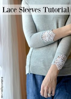 Tutorial: Add lace to your sweater cuffs