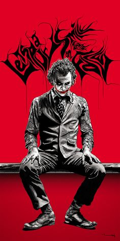 after 8 days of hard work. THE JOKER. The Joker Le Joker Batman, Joker Y Harley Quinn, Der Joker, Joker Art, Joker Images, Joker Pics, Heath Ledger Joker, Joker Hd Wallpaper, Joker Wallpapers