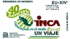 Para conmemorar el 40 aniversario de creación del Instituto Nacional para el Desarrollo de Capacidades del Sector Rural, A.C. (INCA Rural), el Sistema de Transporte Colectivo emitió un tiraje de boletos en el mes de mayo.