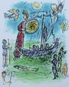Marc+Chagall+-+Athena+Guides+Telemachus'+Boat