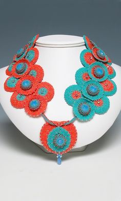 Collar-Style Necklace with Seed Beads - Fire Mountain Gems and Beads