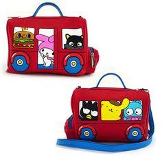 Hello Kitty Sanrio Bus Crossbody Purse - Entertainment Earth 2b8720d08df51