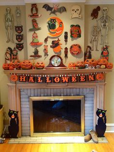 Collection of vintage Halloween die-cuts