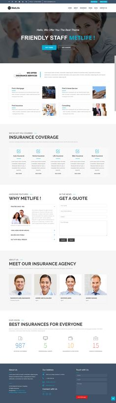 metlife insurance html template  iGlyphic (iglyphic) on Pinterest
