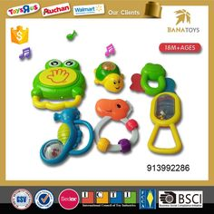 Smart plastic frog hippocampus tortoise plastic baby rattle with light and music set - Kids Basic Skills Development Toys - Shantou Bana Import & Export Co., Ltd